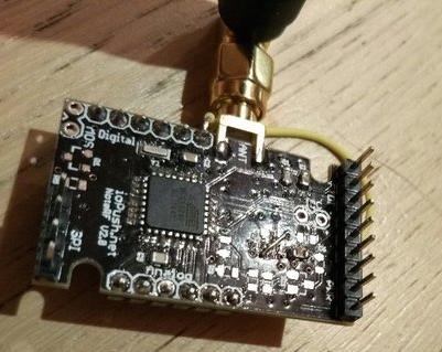 NoteRF V2.0 partly soldered